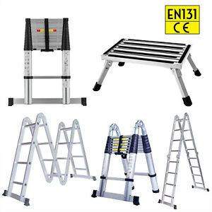 All Purpose Extension Telescopic Aluminum Ladder Portable Folding Step Ladders