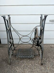 Antique New Ideal Cast Iron Sewing Machine Treadle Base Table Legs Steampunk