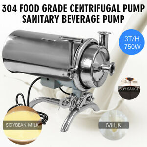 304 Food Grade Centrifugal Pump Portable Sanitary Beverage Pump 3t h 220v 750w