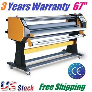 67 Full auto Wide Format Hot Cold Laminating Machine Hot Cold Laminator 1630mm