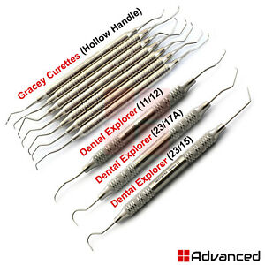 Periodontal Gracey Curettes Root Canal Scalers Endodontic Explorers Hygiene Tool