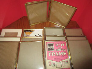 Vintage Brass Gold Picture Photo Frame Lot Of 13