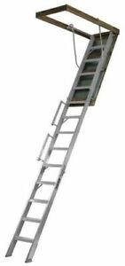 Everest Attic Stairway Ladder Aluminum 350 Lb Louisville Al258p