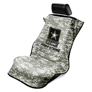 Seat Armour Camo Black Seat Cover Towel Fit For Universal Fitment Army Logo