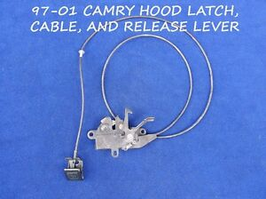 1997 2001 Toyota Camry Hood Latch Assembly With Release Cable Interior Handle
