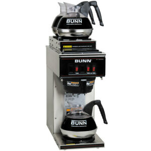 Coffee Maker Bunn Vp17 3 Warmer Commerical Low Profile Pourover Brewer Machine 3