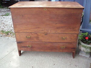 Antique Pine Blanket Chest With Drawers