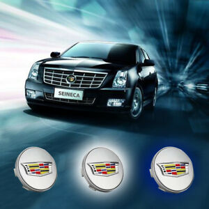 4x Car Wheel Center Led Caps For Cadallic Floating Hubcaps Lighting Accessories