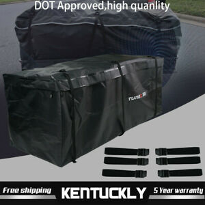 20 Cu Ft Rainproof Luggage Cargo Carrier Bag Weather Resistant Hitch Mounted New