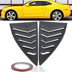 Quarter Side Window Scoop Louver Hoods Vent For 2010 2015 Camaro Ls Lt Rs Ss Gts