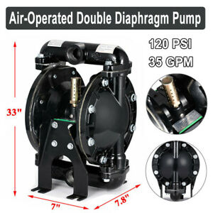 Air operated Double Diaphragm Pump Membrane Pump 35 Gpm 120 Psi 1 inlet outlet
