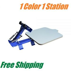 1 Color 1 Station T shirt Silk Screen Printing Machine Printing Press Equipment