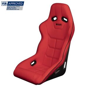 Braum Red Ultra Grip Fabric Fia Approved Fixed Back Falcon X Racing Seat