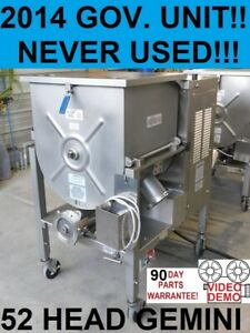 2014 Hollymatic 180a 52 Head Gemini Us Gov Unused Meat Grinder Mixer Extruders
