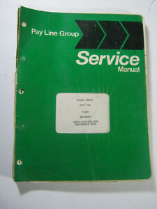 Pay Line International 3600a Backhoe Hoe Tractor Service Repair Manual 1972