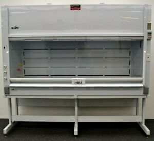 8 Chemical Laboratory Fume Hood W Base Service Valves Poly Used