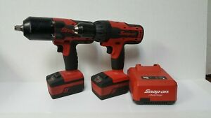 Snap On 18v Cordless 1 2 Impact Wrench Ct8850 Cdr8850h 2 Batteries