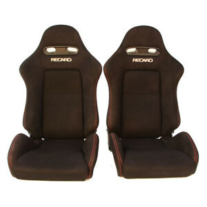2 Jdm Recaro Integra Sr4 Dc5 Black Bucket Racing Seats Cars Mustang Eg Ek Bmw