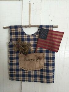 Primitive 4th Of July Americana Decor Dress