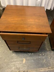Pair Of Mid Century Walnut Nightstands