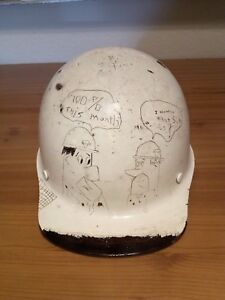 Vintage Armco Steel Factory Iron Construction Worker Hard Hat Helmet Flintstones
