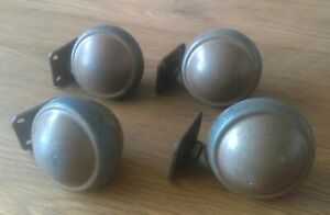 Large Heavy Kenrick Shepherd Patented Vintage Ball Castors Set Of Four