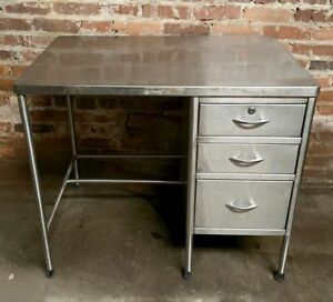 Stainless Steel Prep Table 3 Drawer Commercial Kitchen Lab Medical 36 X 24 X 31