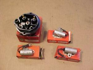 Lot Of 4 Fairbanks Morse Magneto Parts Rotor Cap 3 Condenser