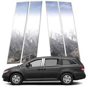 4p Stainless Pillar Post Covers Fits 2011 2017 Honda Odyssey By Brighter Design