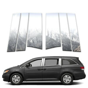 6p Stainless Pillar Post Covers Fits 2011 2017 Honda Odyssey By Brighter Design