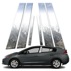 6p Stainless Pillar Post Covers Fits 2010 2014 Honda Insight By Brighter Design