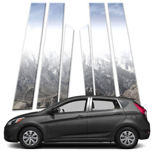 6p Pillar Post Covers Fits 2012 2018 Hyundai Accent Hatchback By Brighter Design