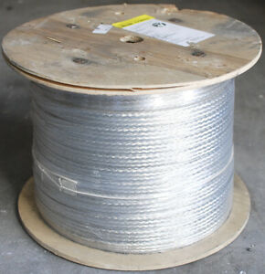 Alpha Wire Standard 3 32 Flat Braided Copper Cable 36 Awg 500ft Spool