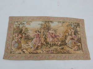 Vintage French Beautiful Painting Scene Tapestry 106x57cm