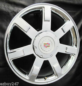 New 2013 2014 2015 Cadillac Escalade Chrome Oem Gm Factory Spec 22 In Wheel 5309