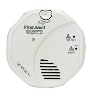 Brk Hardwired Interconnected Smoke And Carbon Monoxide Alarm With Voice Alert