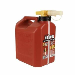 No spill 1405 2 1 2 gallon Poly Gas Can