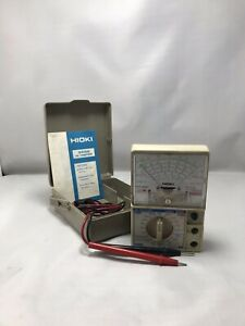 Hioki 3000 Hitester Manual ranging Analog Multimeter With Case And Test Leads
