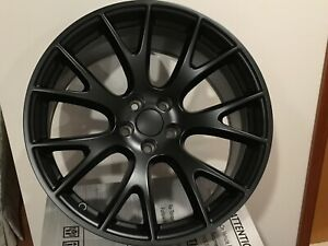 Two 20 X 10 5 Rear Hellcat Style Wheels Rims Satin Black Challenger Charger