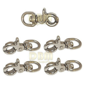 5 Pc 5 8 Swivel Eye 2 3 4 Length Trigger Snap Hook Stainless Steel 316 Leash