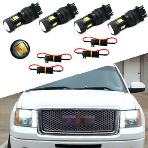 4pcs Dual Color Led Turn Signal Lights Switchback For 2000 2014 Gmc Sierra 1500