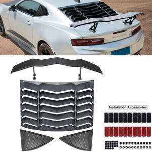 Rear Window Louvers Side Scoop Vent Trunk Spoiler Wing Gt Style For Chevy Camaro