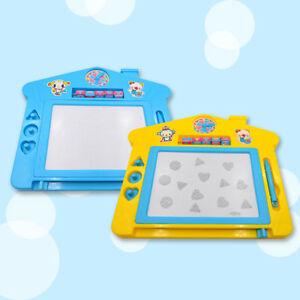 Plastic Magnetic Drawing Board Writing Painting Erasable Sketching Pad Kids Toy
