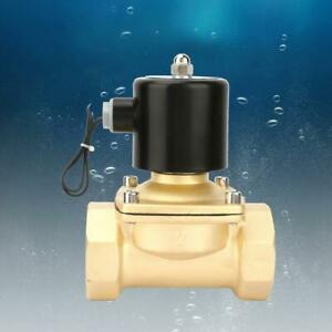 Dn50 Brass Durable Normally Closed Electric Solenoid Valve For Water Oil Gas