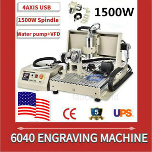 Usb 1 5kw 6040 Router Engraver 3d Metal Engraving Carving 3d Milling Machine vfd