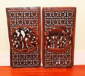Antique Chinese Hand Carved Window Screens Great Details Looking For Offers