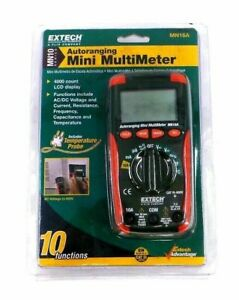 Extech Autoranging Mini Multimeter Model Mn16a 10 Functions 0161