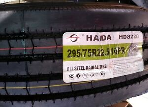Haida 295 75r22 5 16pr Steer Tire All Position commercial Truck Tire