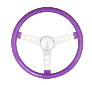 Grant Steering Wheel Mtl Flake Purple Spoke Chrm 15 P N 8463