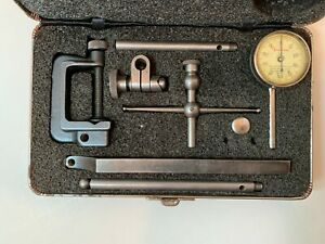 L S Starrett 196 Universal Back Plunger Dial Indicator Tool For Lathe Or Mill